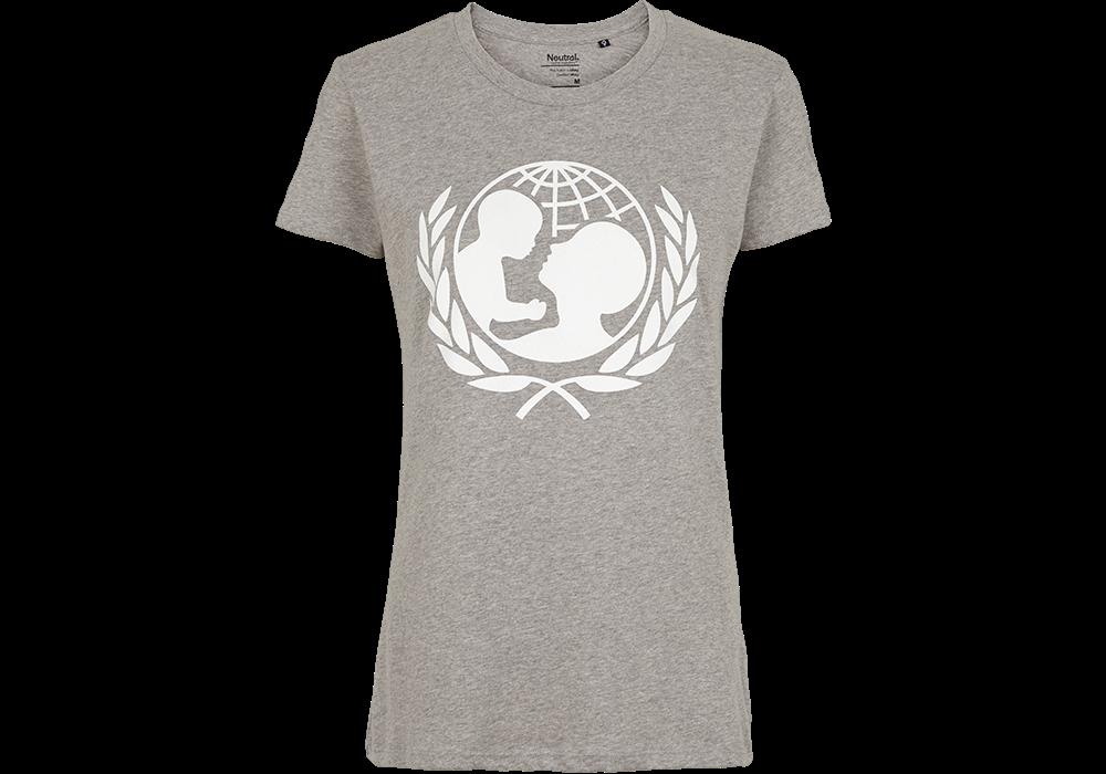 a4bf1933 Køb flot grå T-shirt til dame i 100% økologisk bomuld| UNICEF Danmark