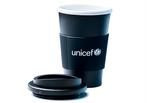 UNICEF To go kop i sort til din the eller kaffe